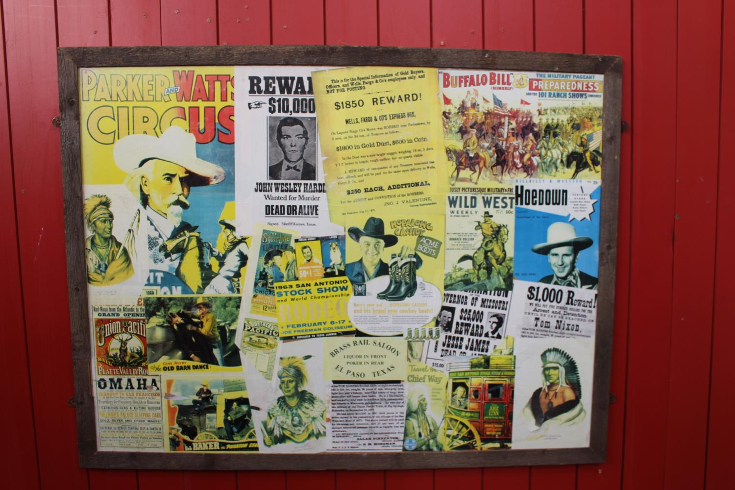 Wild West printed collage