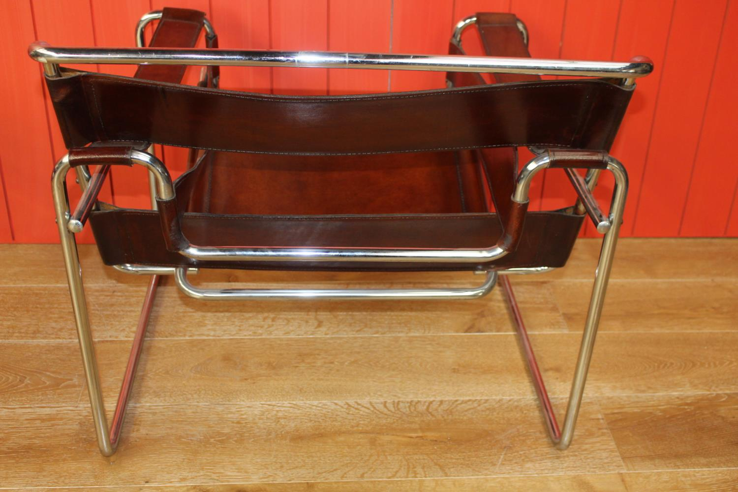 Pair of leather and chrome Director's chairs - Image 2 of 2