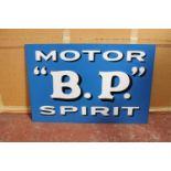 BP Motor Spirit metal advertising sign