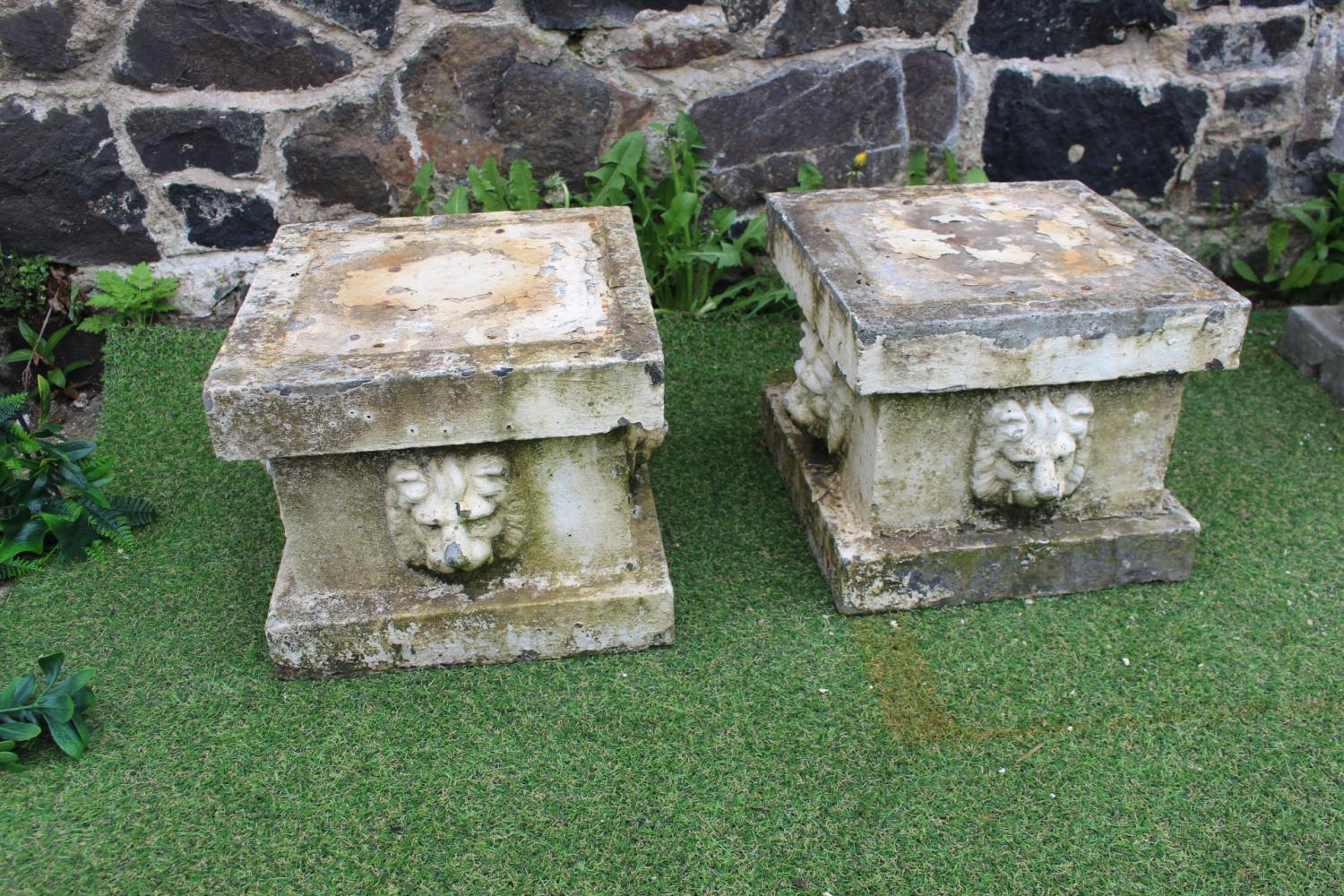 Pair of composition stone bases