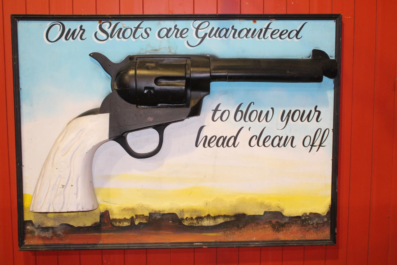 Gun advertisement.