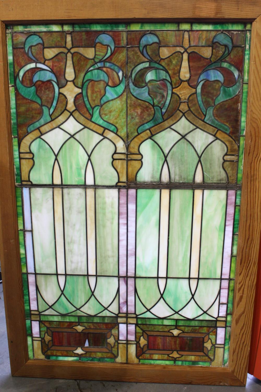 Leaded stain glass window