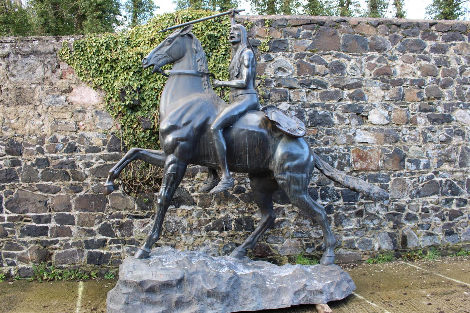Bronze Model of Horse and Indian