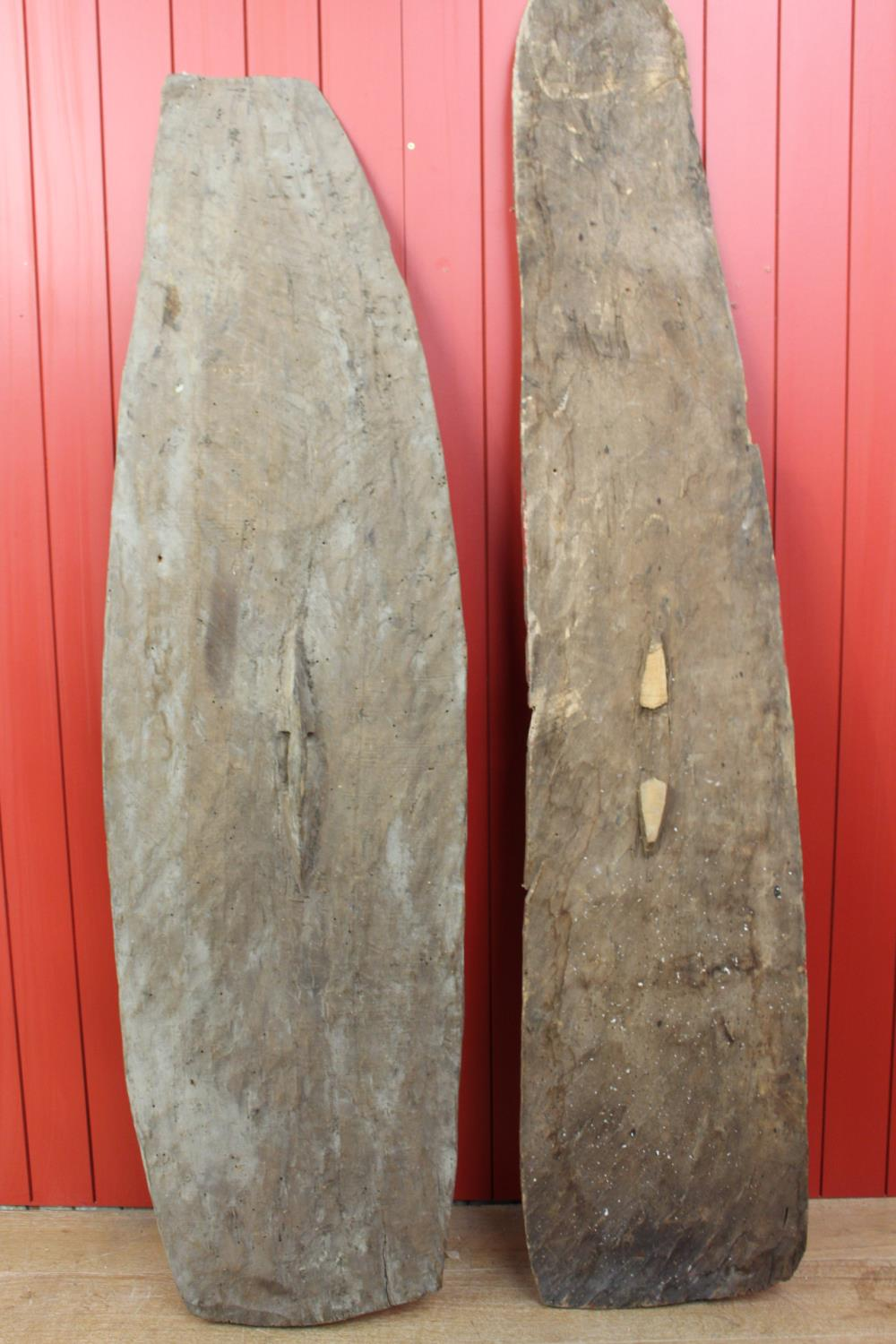 Wooden African style shields - Image 2 of 2