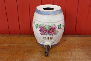 19th C. ceramic Gin dispenser