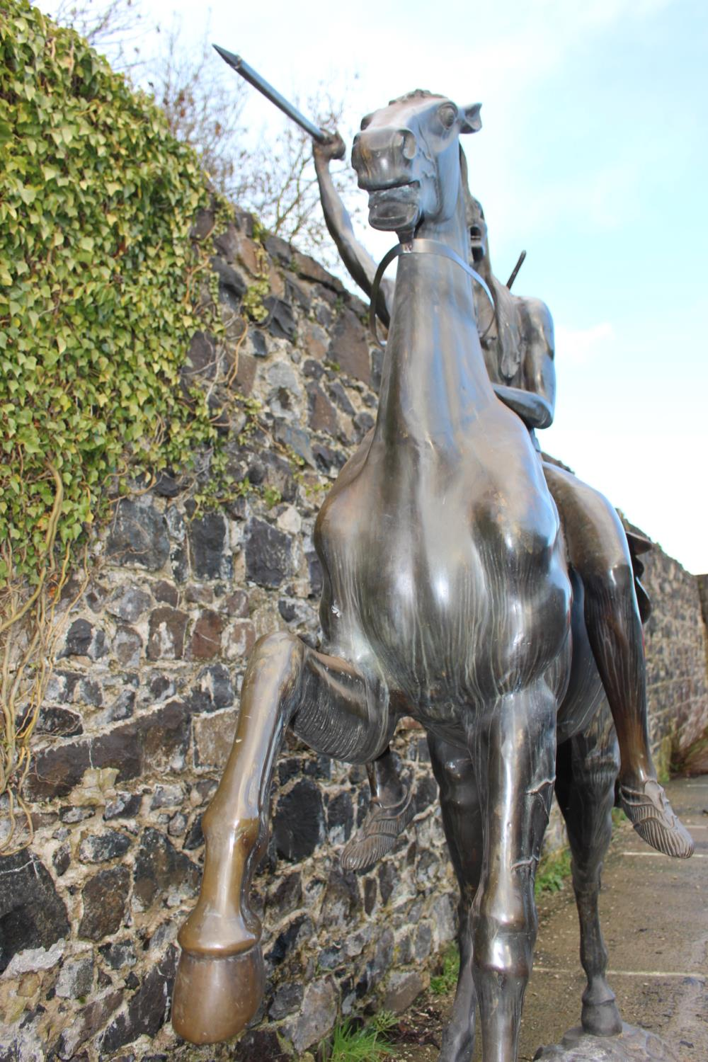 Bronze Model of Horse and Indian - Image 9 of 11