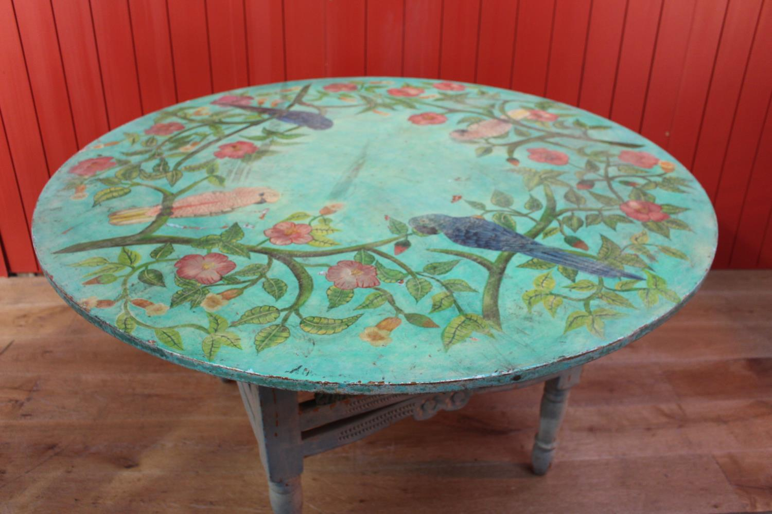Carved painted centre table
