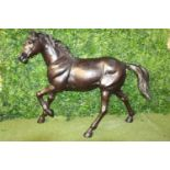 Bronze model of a trotting Horse