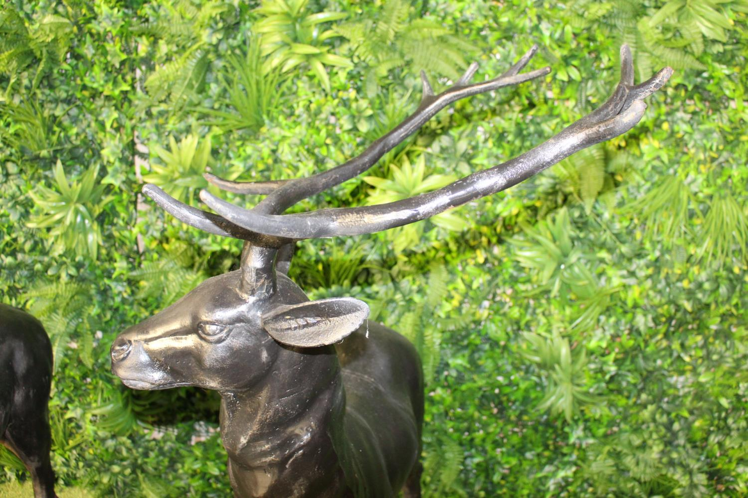 Pair of cast iron models of Stags - Image 3 of 3