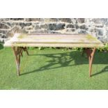 Cast iron garden bench