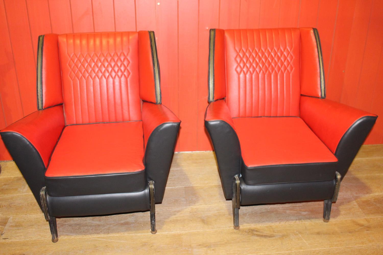 Rare Retro 1960's Pair of armchairs