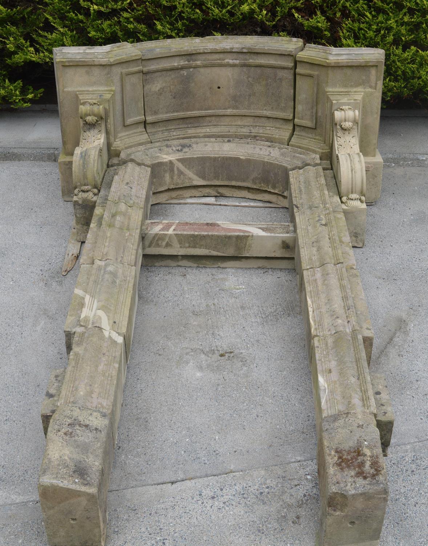 Rare 19th C. sandstone door frame. - Image 3 of 3