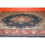 Persian style blue and red ground carpet
