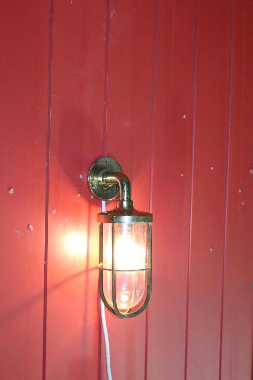 Three brass ship's warning lights - Image 2 of 2
