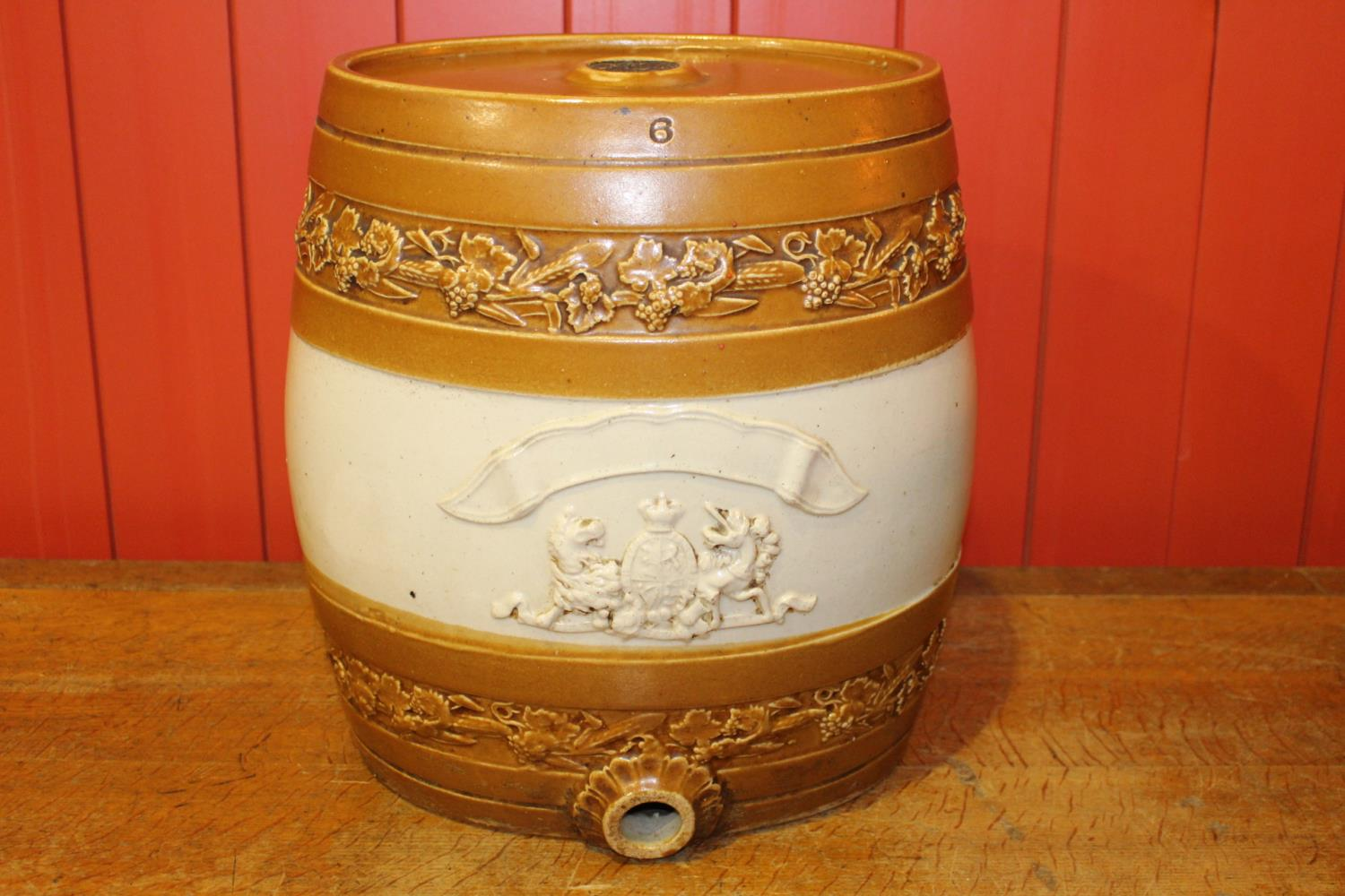 19th C. glazed earthenware dispenser