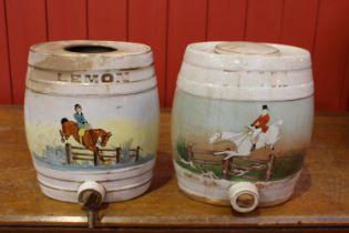 Pair of 19th C. ceramic dispensers.