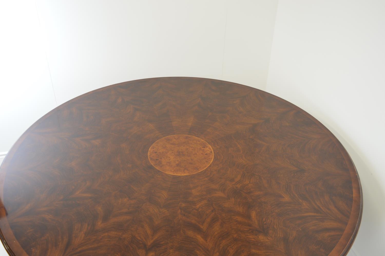 Mahogany circular dining table. - Image 2 of 3