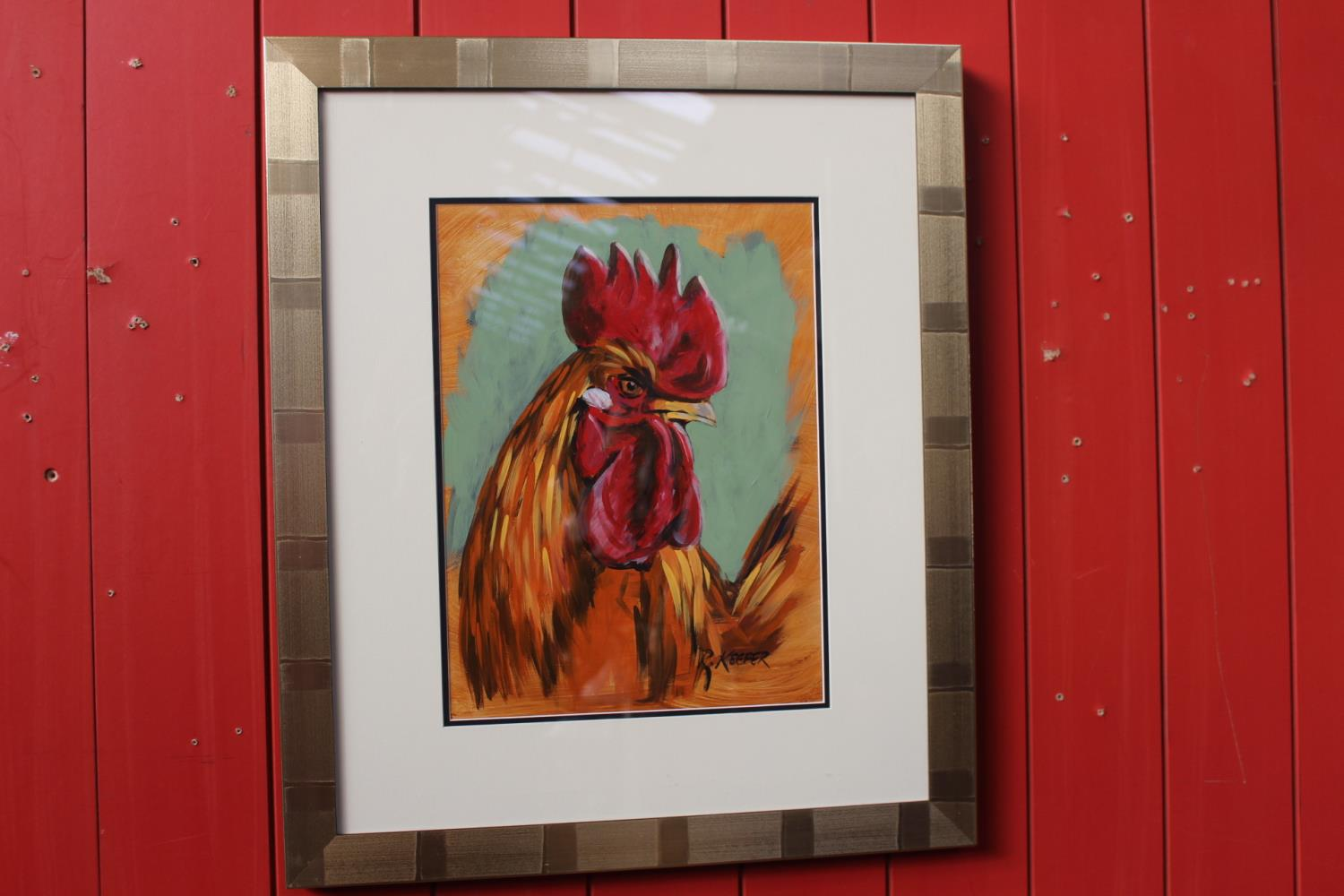 R Keefer - Rooster - Oil on Canvas