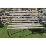 Wrought iron garden seat