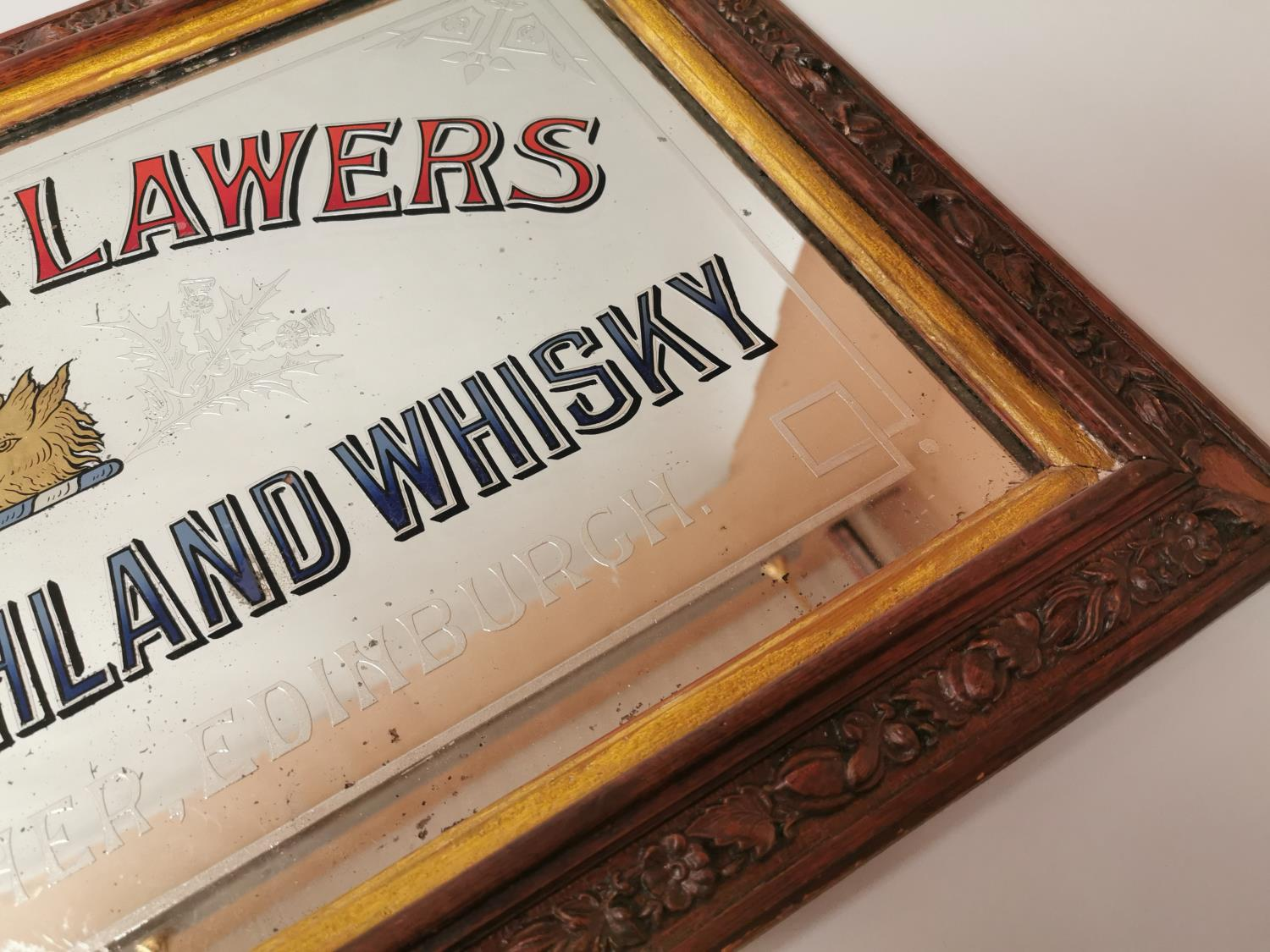 Dew Of Ben Lawers Whisky advertising mirror. - Image 4 of 5