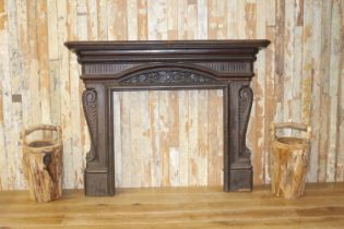 Cast iron decorative chimney piece