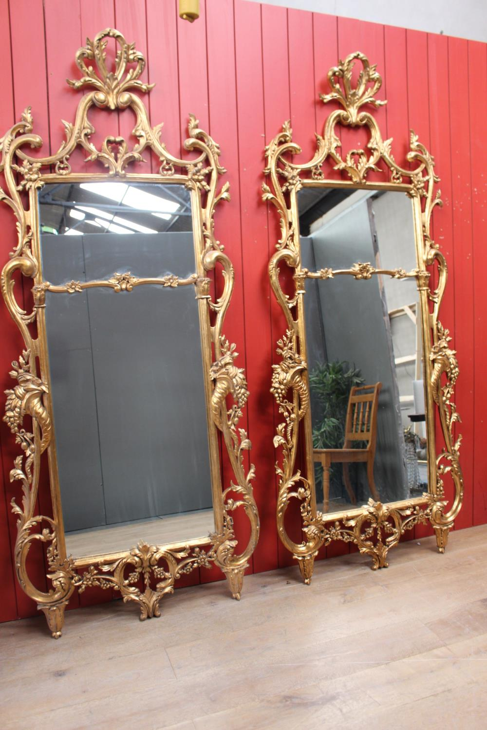 Decorative giltwood wall mirror - Image 2 of 4