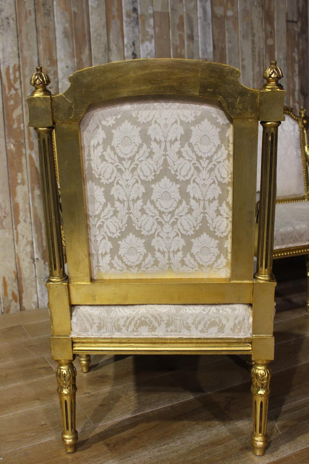 Three piece giltwood upholstered suite - Image 2 of 2