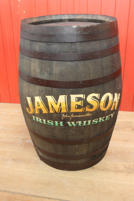 Wooden Metal bound whiskey barrel