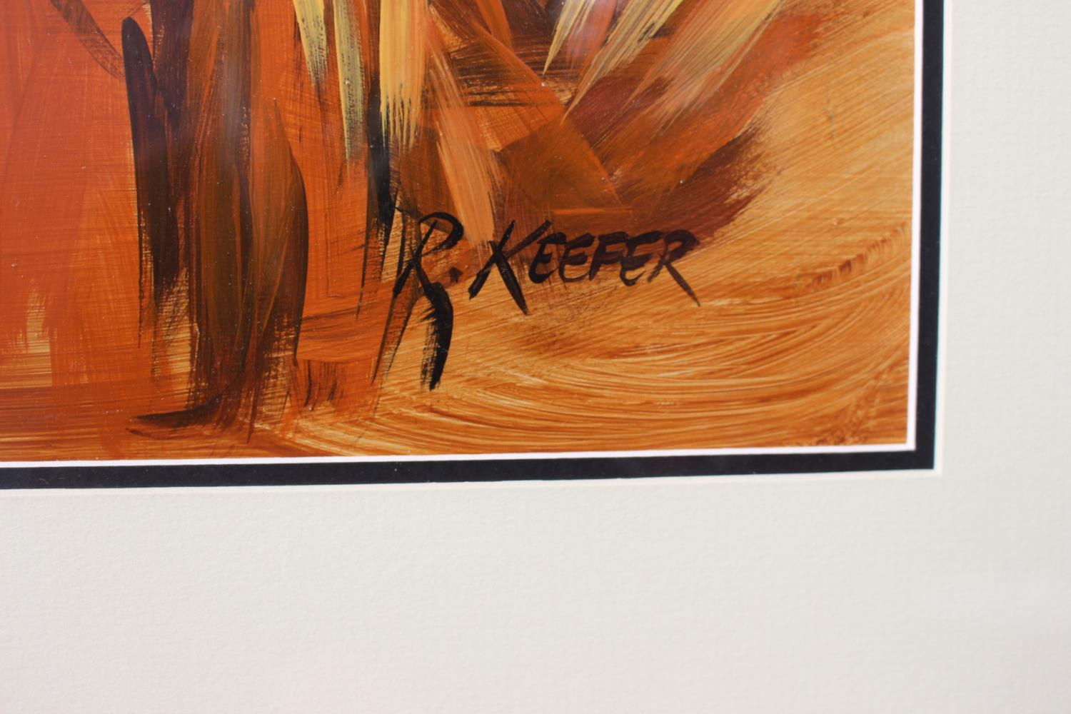 R Keefer - Rooster - Oil on Canvas - Image 2 of 2