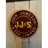 Cast iron John Jameson advertising sign.