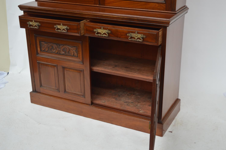 Edwardian mahogany two door bookcase. - Image 3 of 3