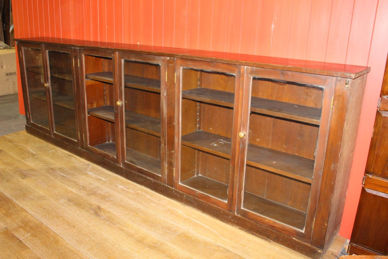 19th C. mahogany shop floor cabinet