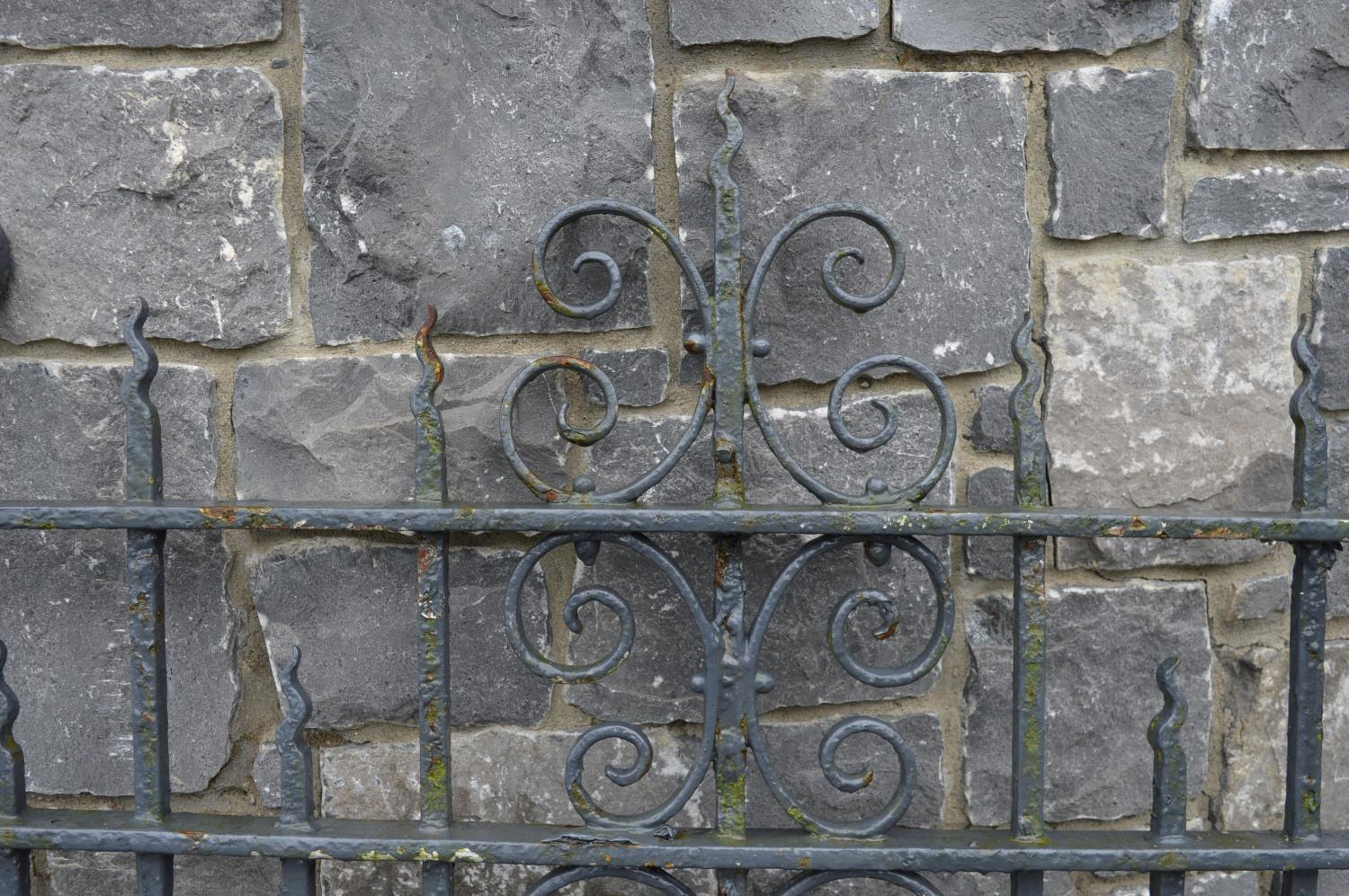 19th C. wrought iron garden gate. - Image 3 of 3