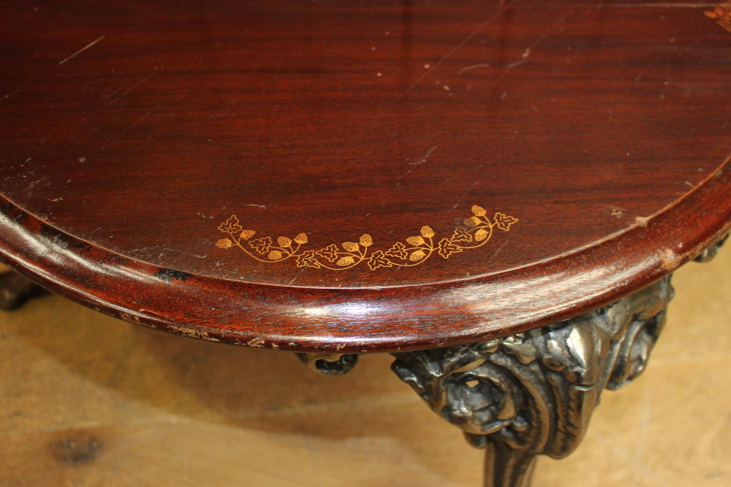 Cast iron coffee table - Image 2 of 2