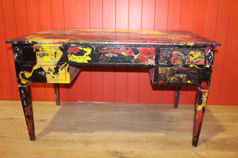 Unusual painted writing desk