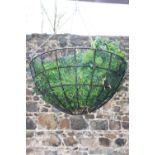 Wrought iron hanging basket