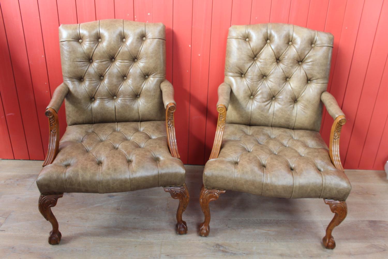 Pair of Gainsborough armchairs
