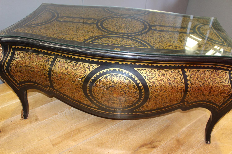 Ebonised mahogany and gilt side table - Image 2 of 4