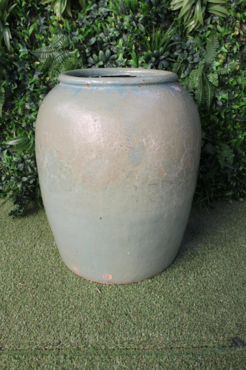 Large ceramic glazed pot