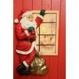 Wall plaque of Santa Claus