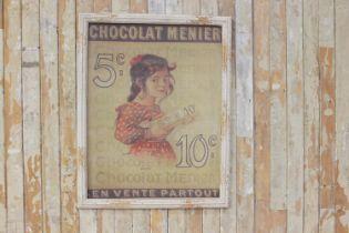 Pictorial advertising print