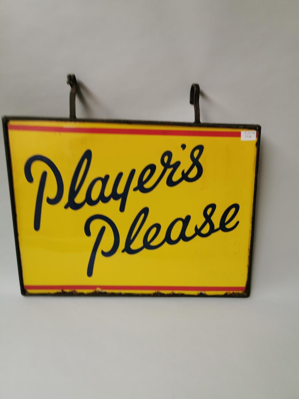 Player's Please enamel advertising sign.