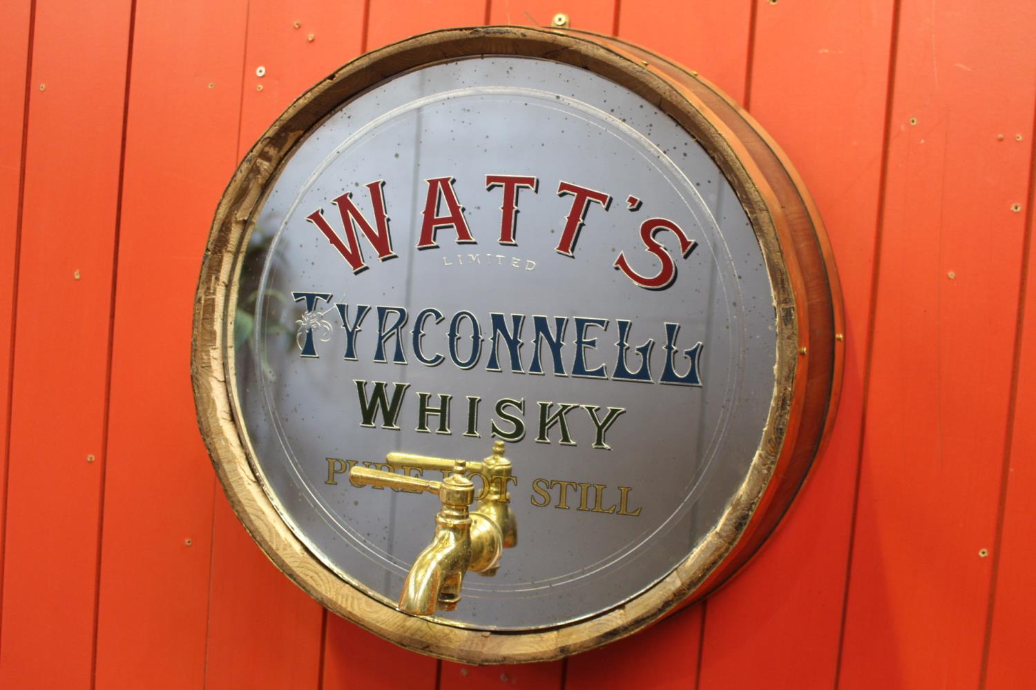 Watts Tyrconnell Whiskey barrel end mirror