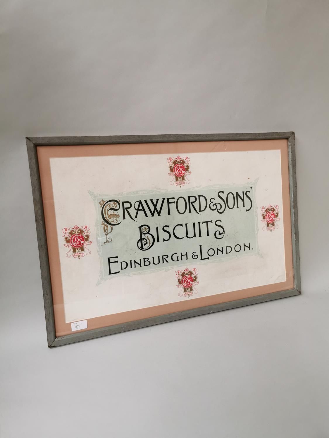 Crawford's & Sons Biscuits framed advertisement.
