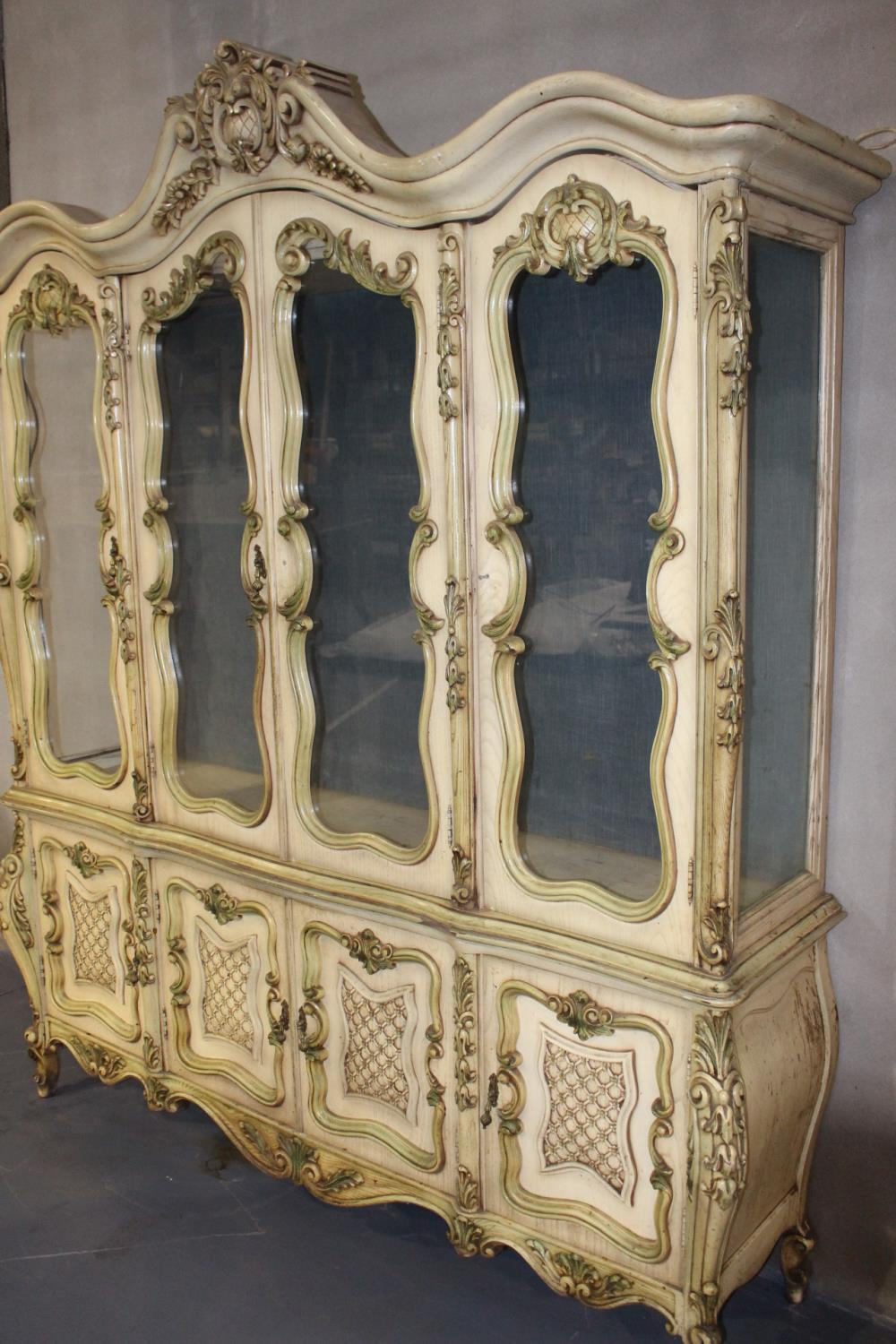 Giltwood French display cabinet