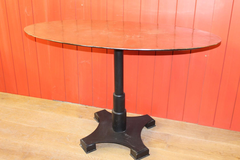 Cast iron pub table