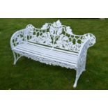 Cast iron garden bench.