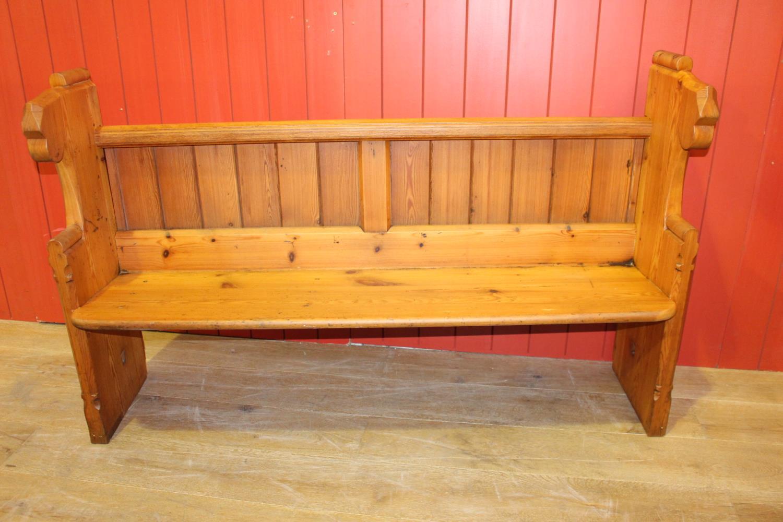 Pitch pine bench