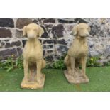 Pair of sandstone model of Dogs