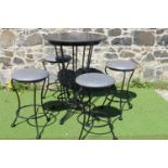 Wrought iron drinks stand